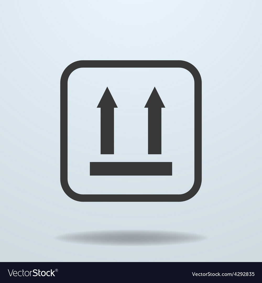 Icon of side up sign symbol vector