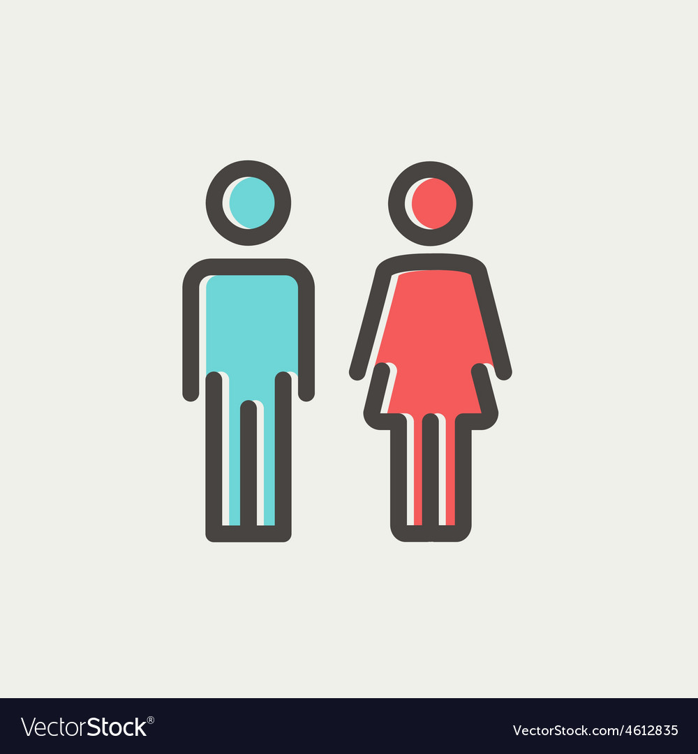 Male and female thin line icon vector | Price: 1 Credit (USD $1)