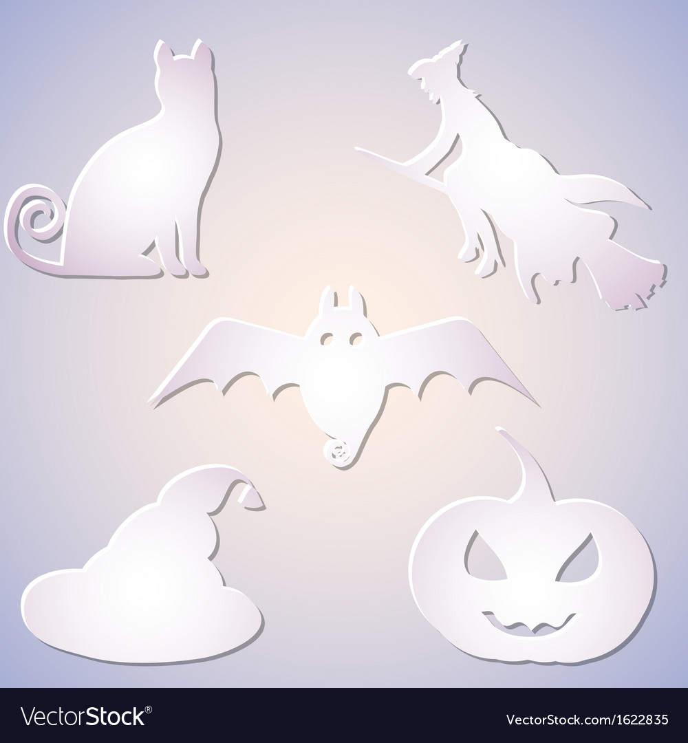 Shadowed symbol set for halloween vector | Price: 1 Credit (USD $1)