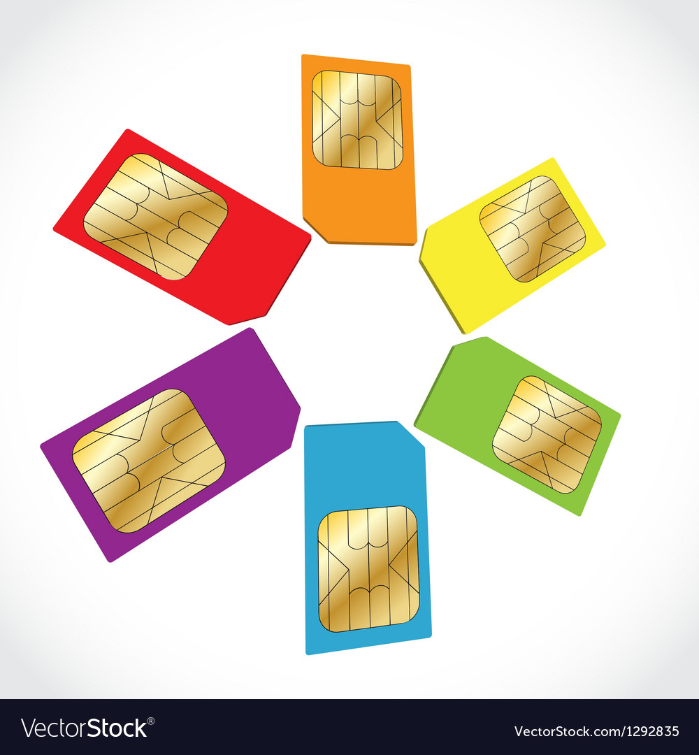 Sim cards vector | Price: 1 Credit (USD $1)