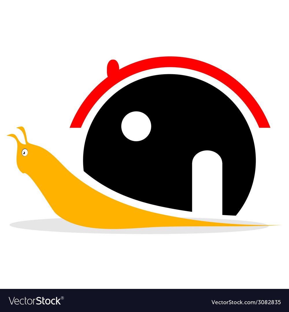 Snail with house vector | Price: 1 Credit (USD $1)