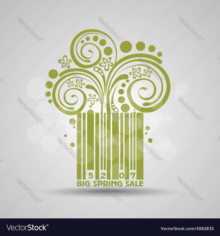Spring sale design green stroke code fresh vector   Price: 1 Credit (USD $1)