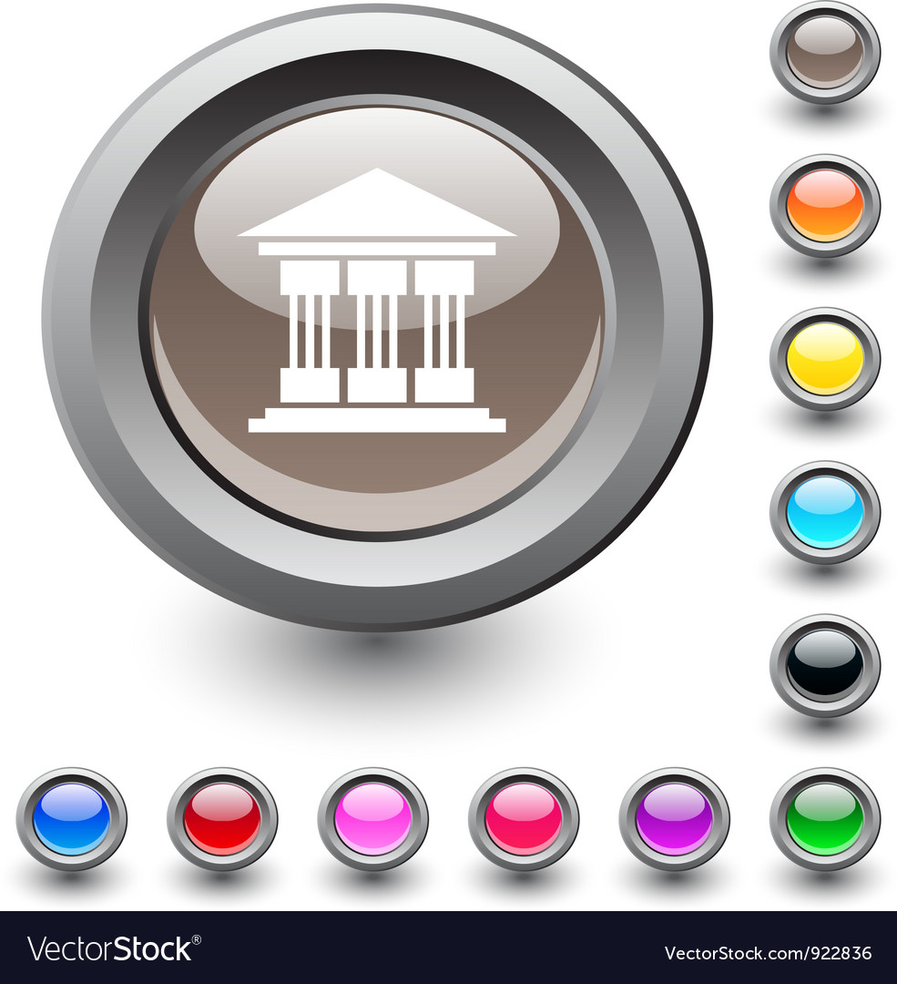 Exchange round button vector | Price: 1 Credit (USD $1)