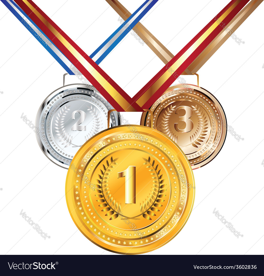 Golden silver and bronze medal2 vector   Price: 1 Credit (USD $1)