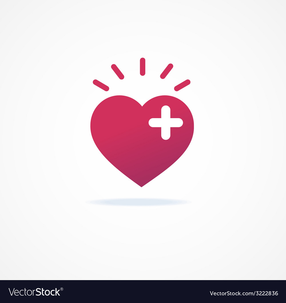 Love signs heart or add icon vector | Price: 1 Credit (USD $1)