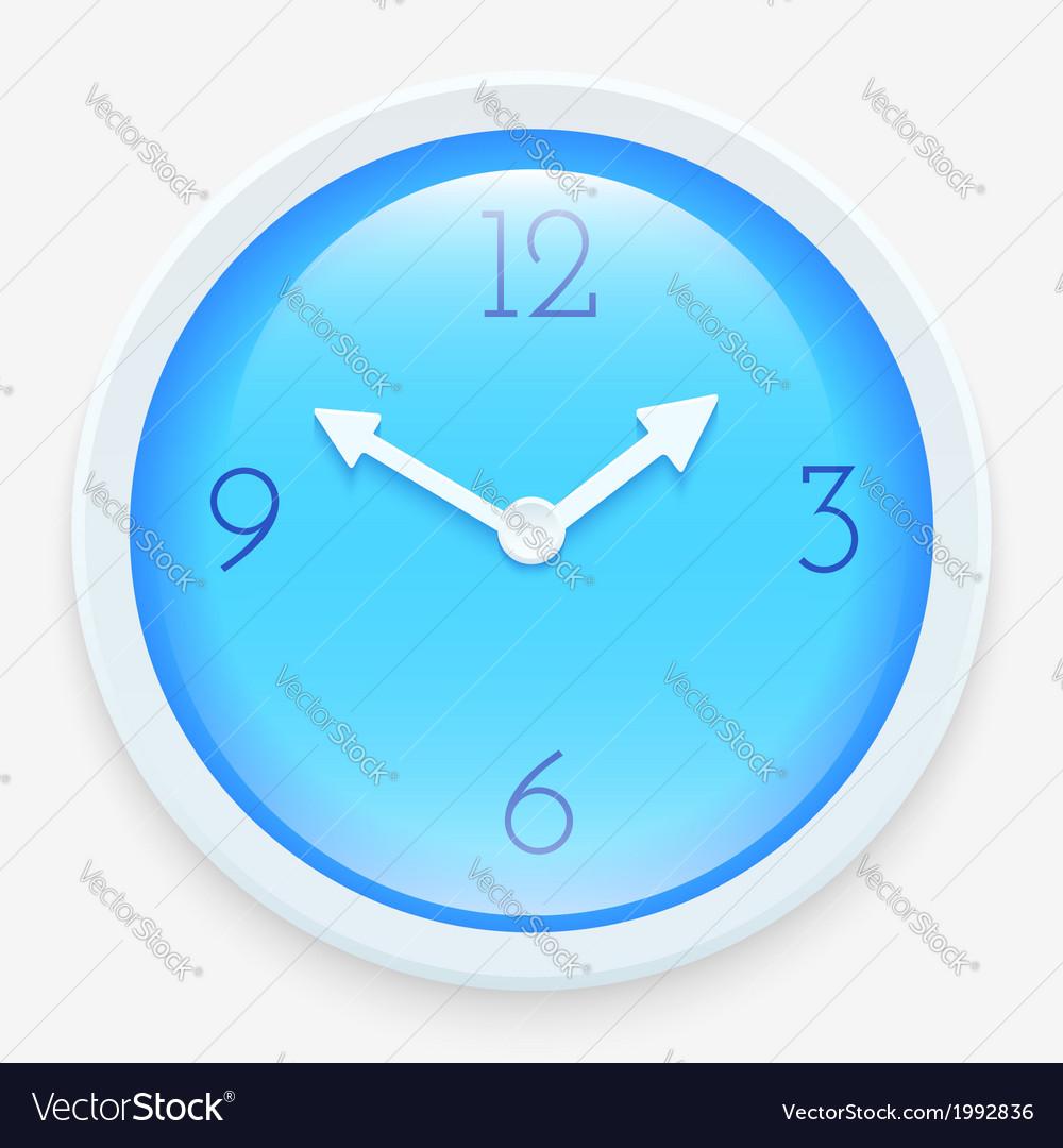 Modern clock vector | Price: 1 Credit (USD $1)