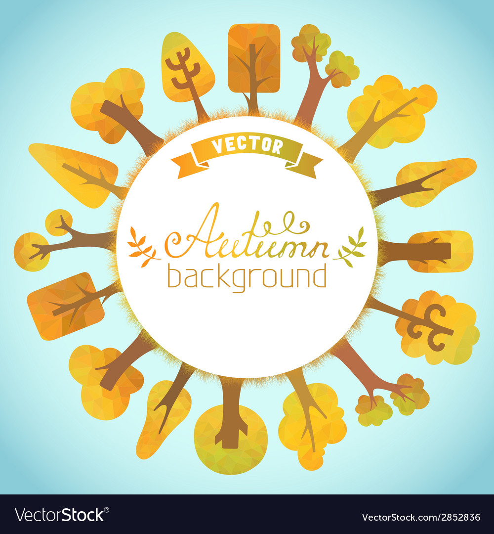 Nature autumn background vector | Price: 1 Credit (USD $1)