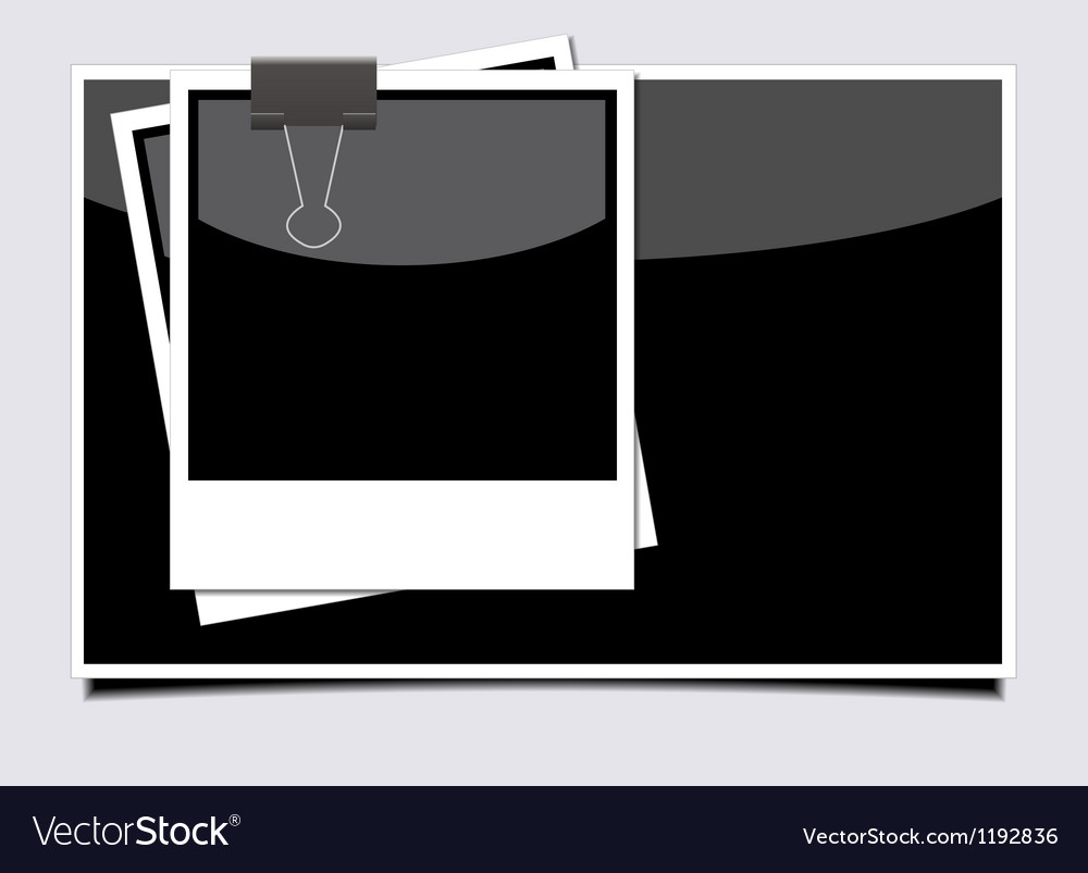 Photo on gray background eps10 vector | Price: 1 Credit (USD $1)