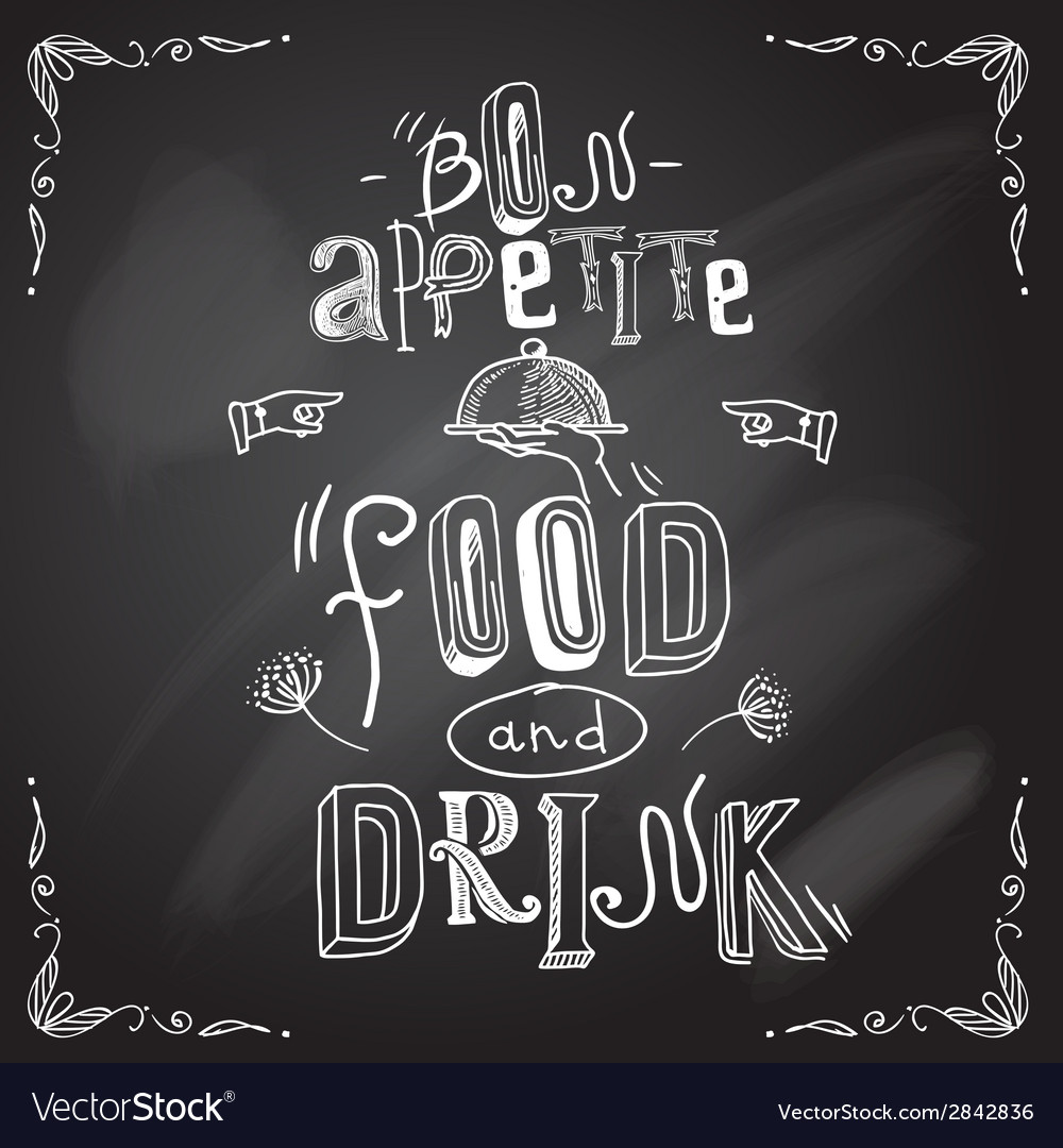 Restaurant chalkboard type vector | Price: 1 Credit (USD $1)