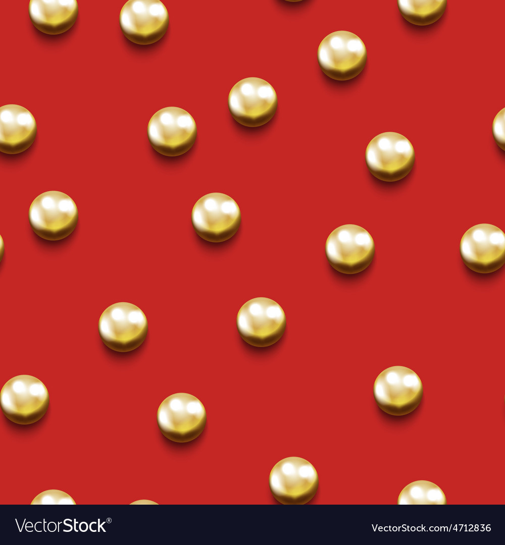 Seamless pattern with golden beads vector | Price: 1 Credit (USD $1)