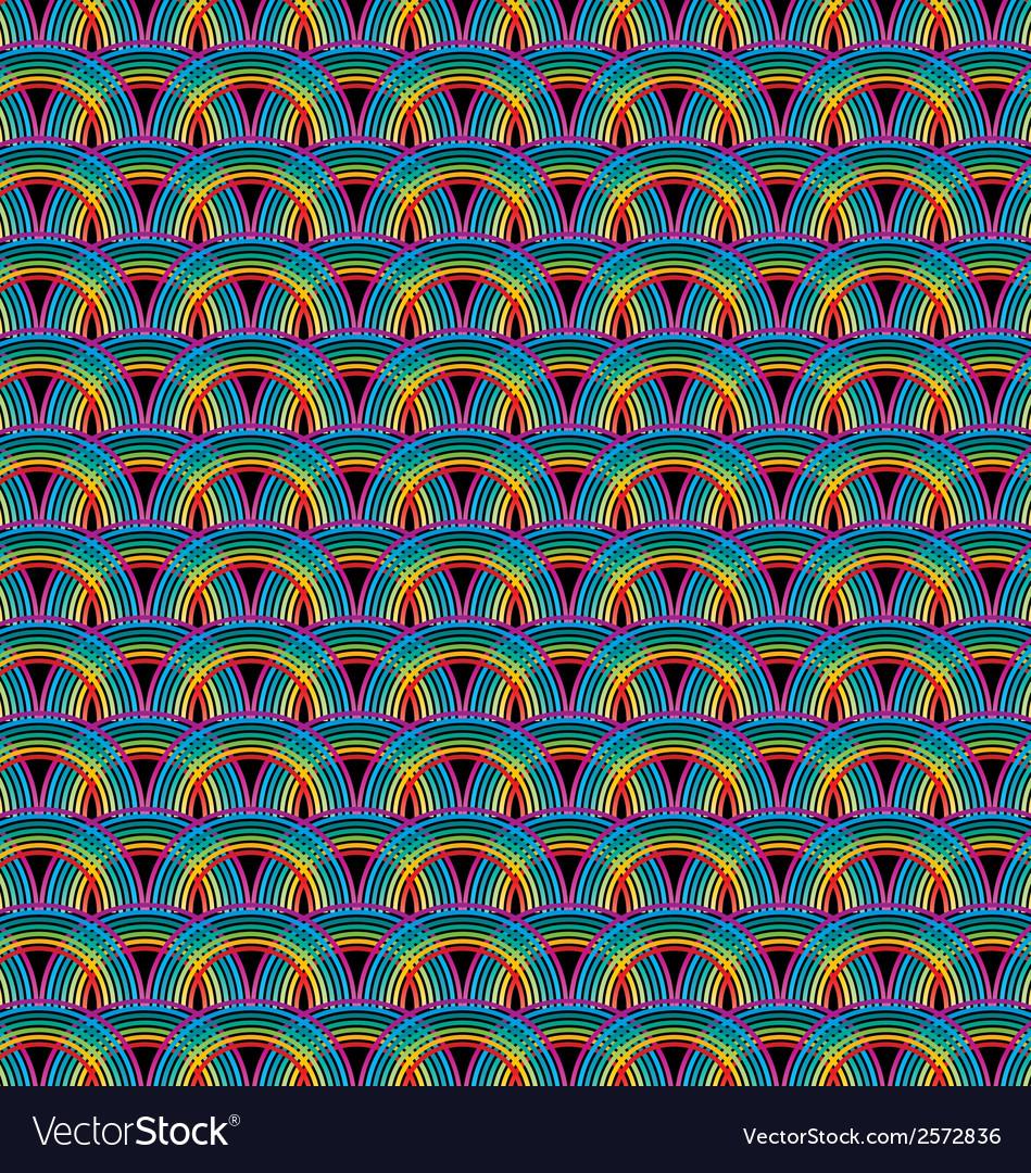 Seamless rainbow pattern tile vector | Price: 1 Credit (USD $1)