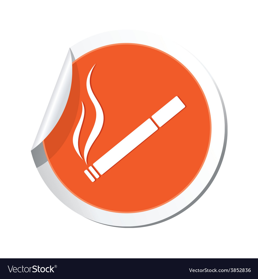 Smoking orange label vector | Price: 1 Credit (USD $1)