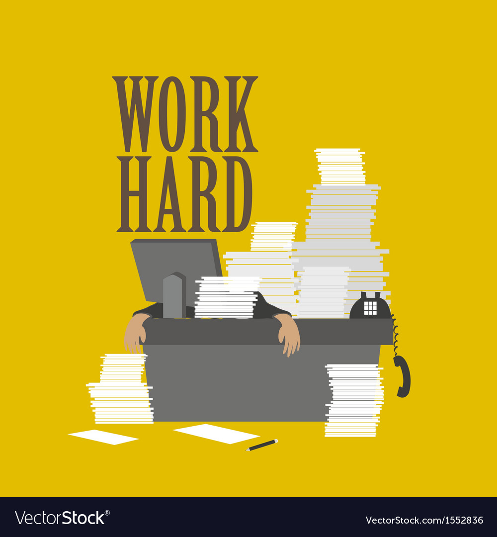 Work hard and businessman vector | Price: 1 Credit (USD $1)