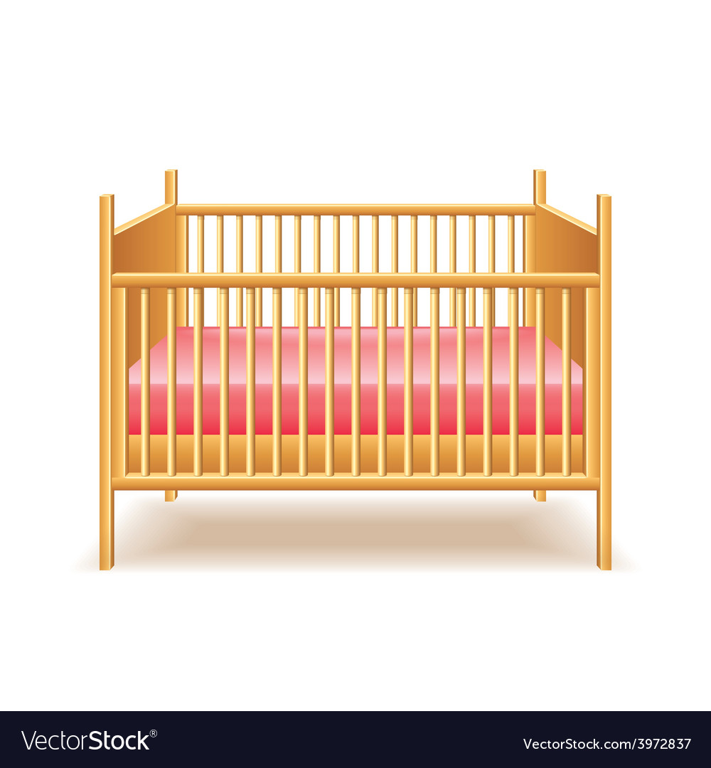 Baby bed isolated vector | Price: 1 Credit (USD $1)