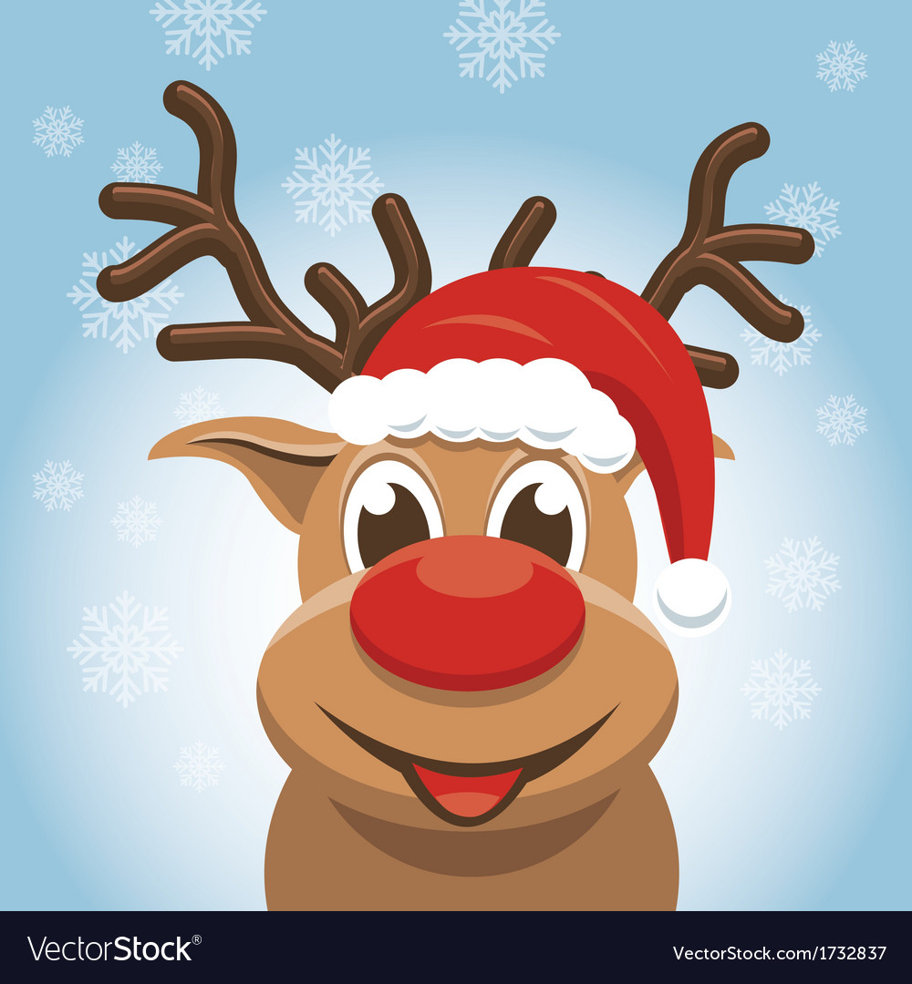 Christmas reindeer - rudolph deer vector | Price: 1 Credit (USD $1)
