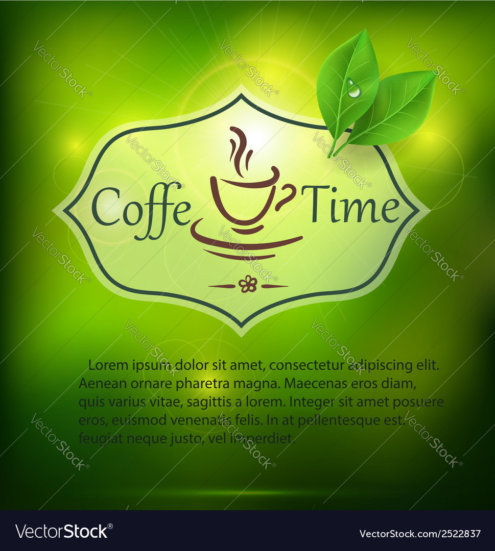 Coffee time background vector | Price: 1 Credit (USD $1)