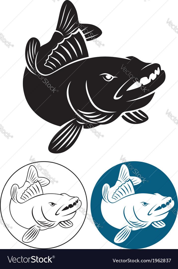 Fish bass vector | Price: 1 Credit (USD $1)