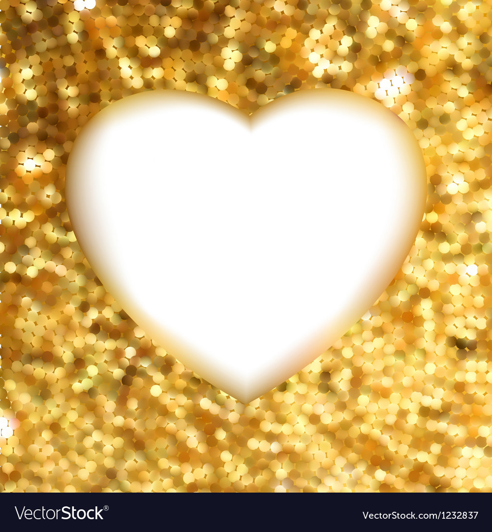 Gold glitter frame heart vector | Price: 1 Credit (USD $1)