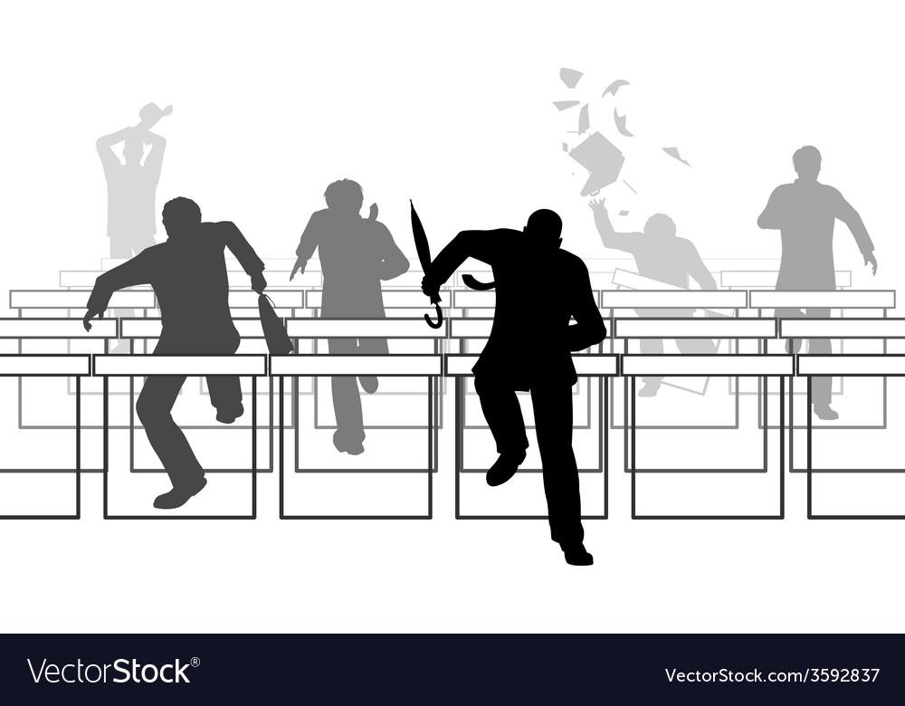 Hurdling businessmen vector | Price: 1 Credit (USD $1)