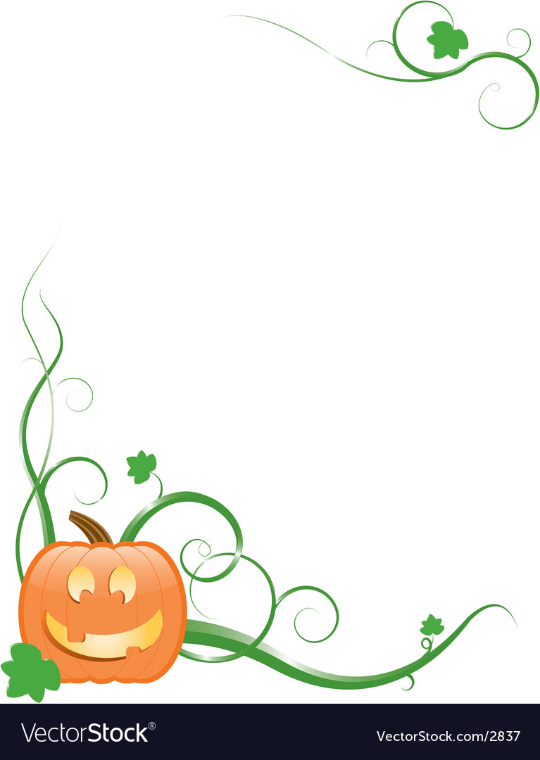 Jack-o-lantern with vines and leaves vector | Price: 1 Credit (USD $1)