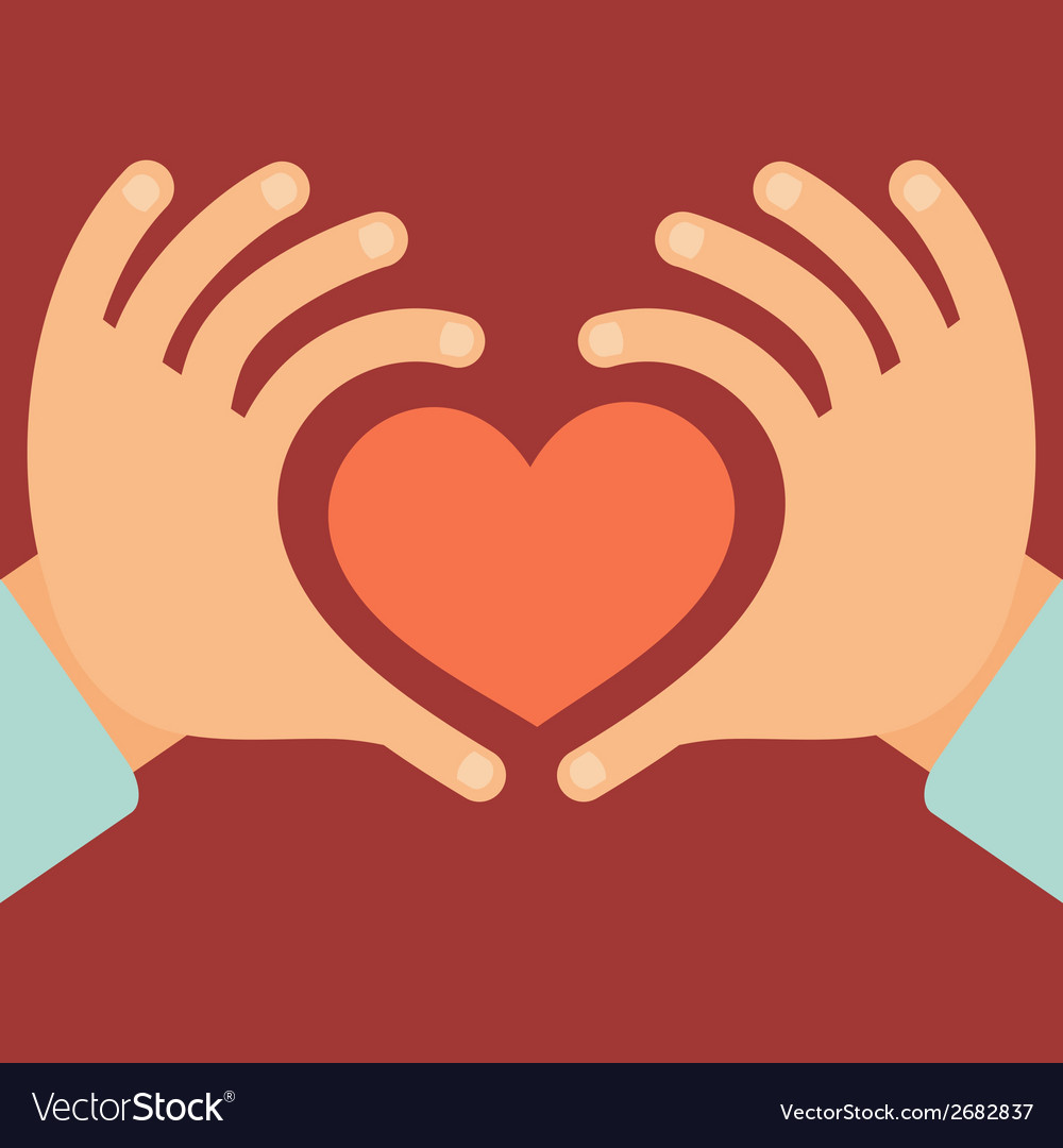 Love and charity concept vector | Price: 1 Credit (USD $1)