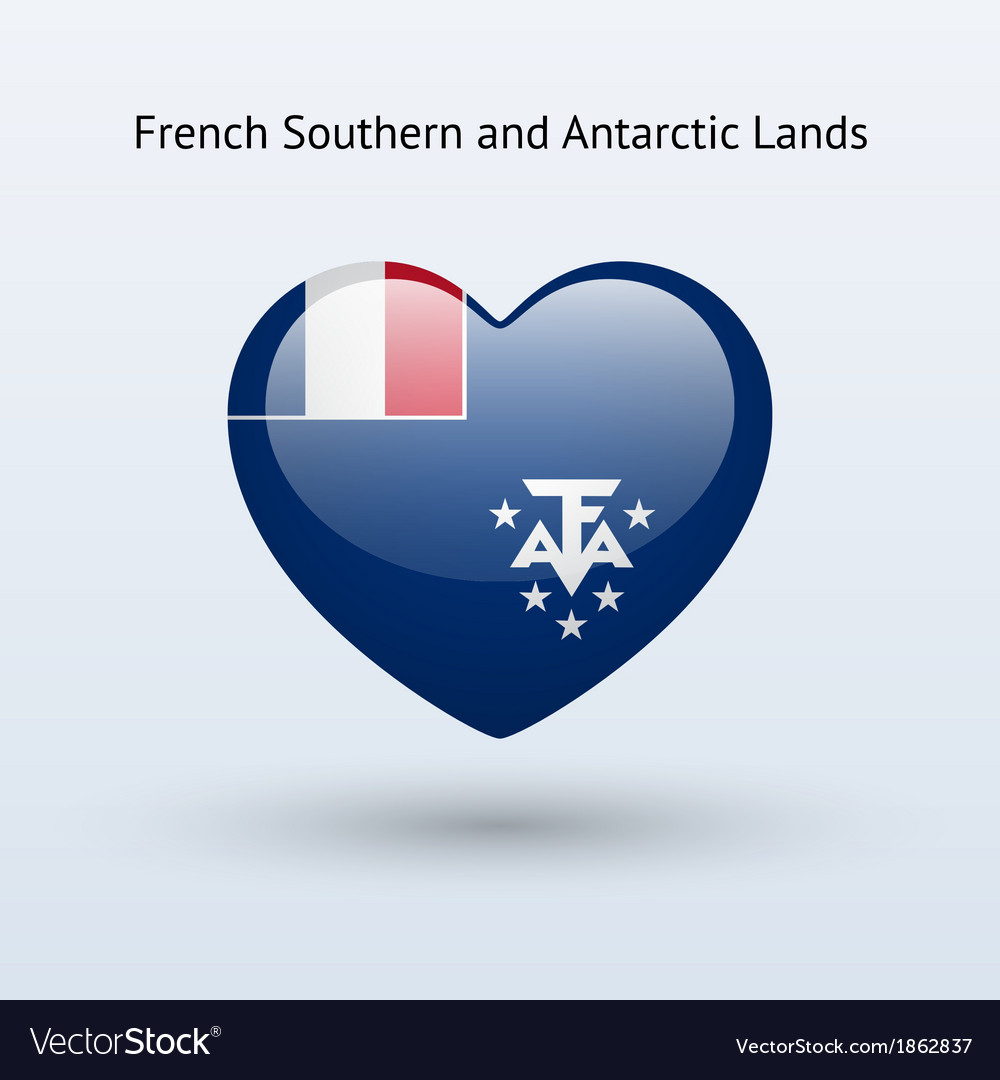 Love french southern and antarctic lands symbol vector | Price: 1 Credit (USD $1)