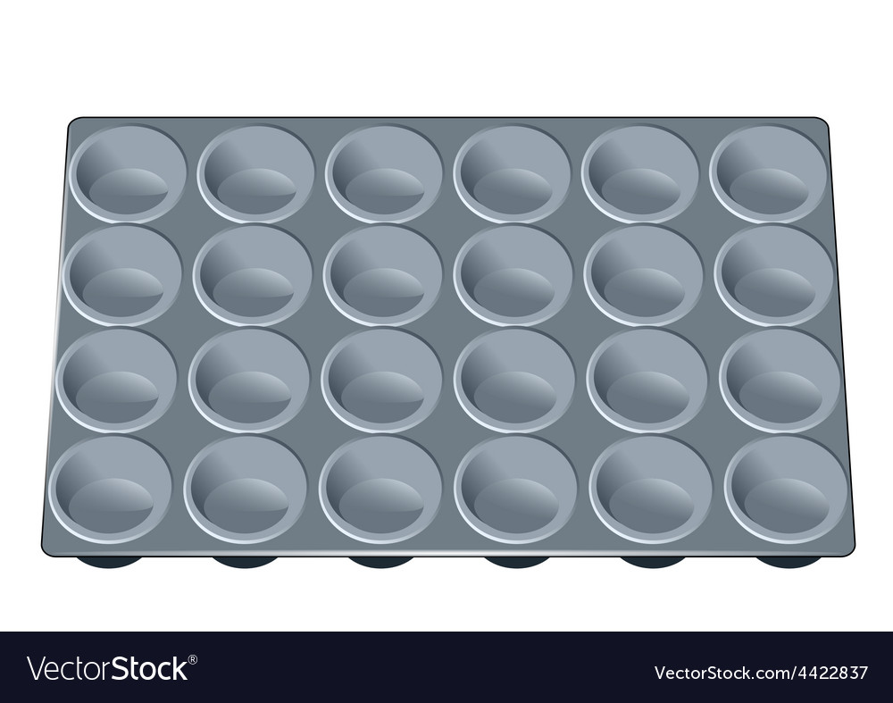 Muffin tray vector | Price: 1 Credit (USD $1)