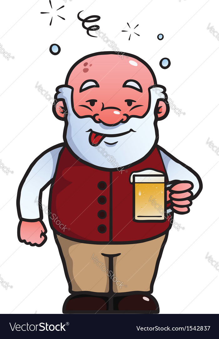 Old man being drunk vector | Price: 1 Credit (USD $1)
