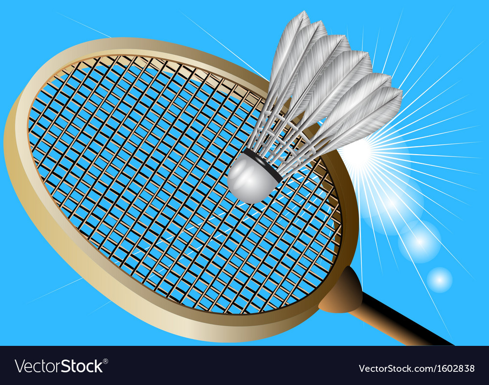 Badminton against the sky vector | Price: 1 Credit (USD $1)