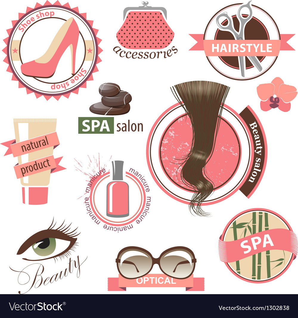 Beauty emblems vector | Price: 3 Credit (USD $3)
