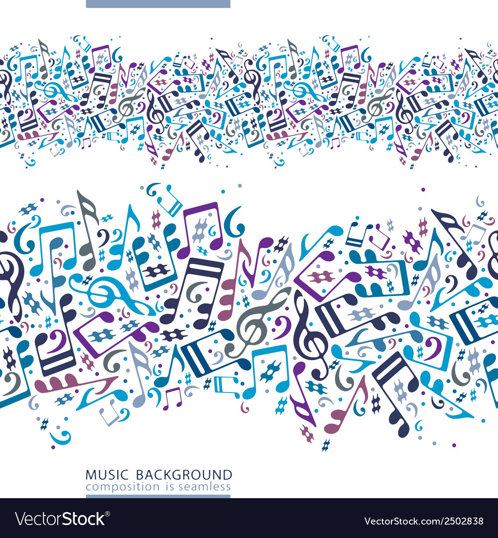 Colorful horizontal music canvas seamless tape vector | Price: 1 Credit (USD $1)