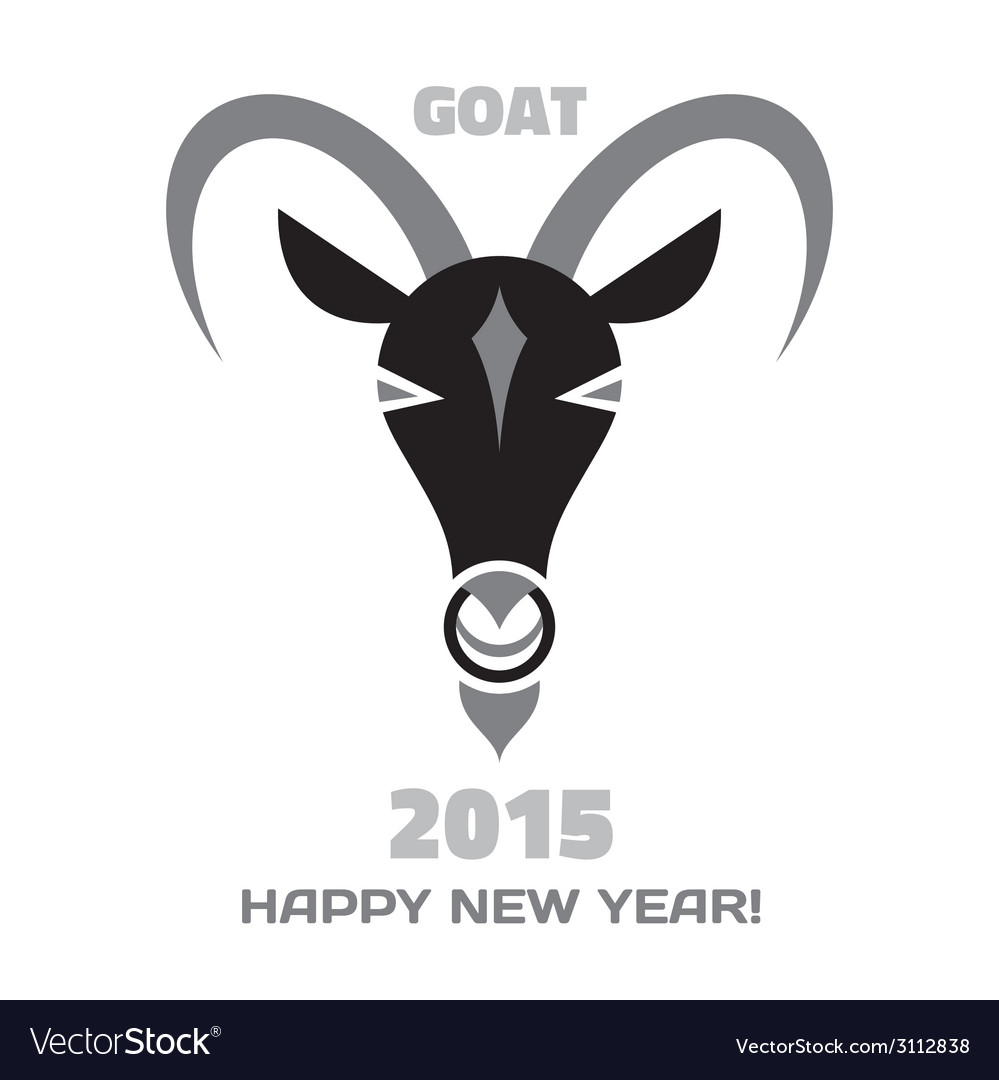 Goat logo - merry christmas and happy new year vector | Price: 1 Credit (USD $1)