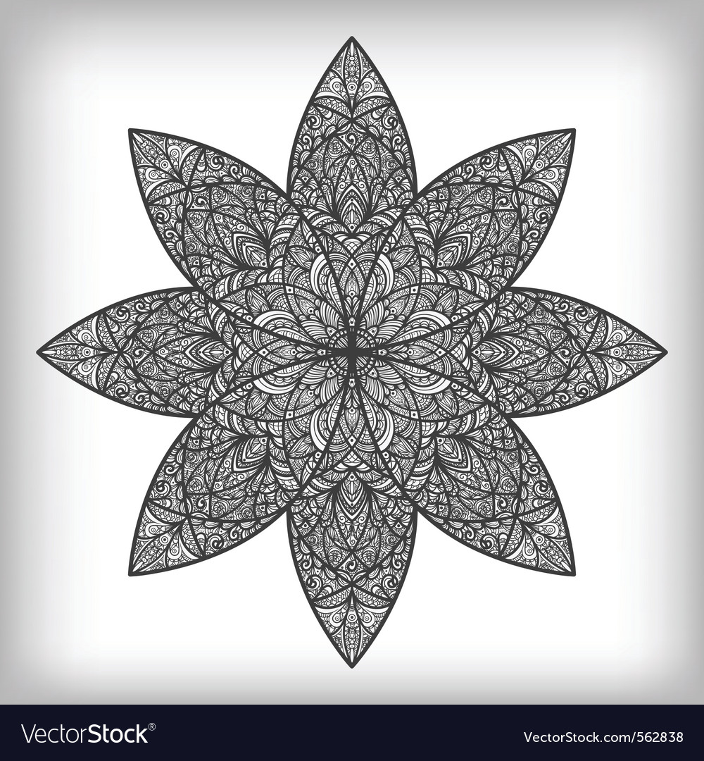 Hand drawn abstract flower vector | Price: 1 Credit (USD $1)