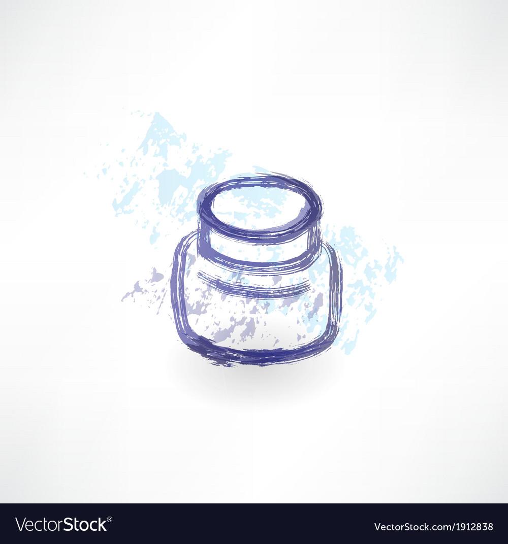 Ink jar grunge icon vector | Price: 1 Credit (USD $1)