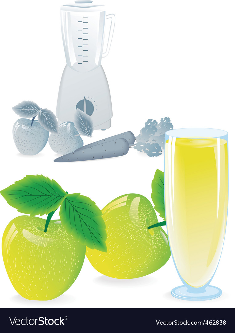 Juice apple blend vector | Price: 3 Credit (USD $3)