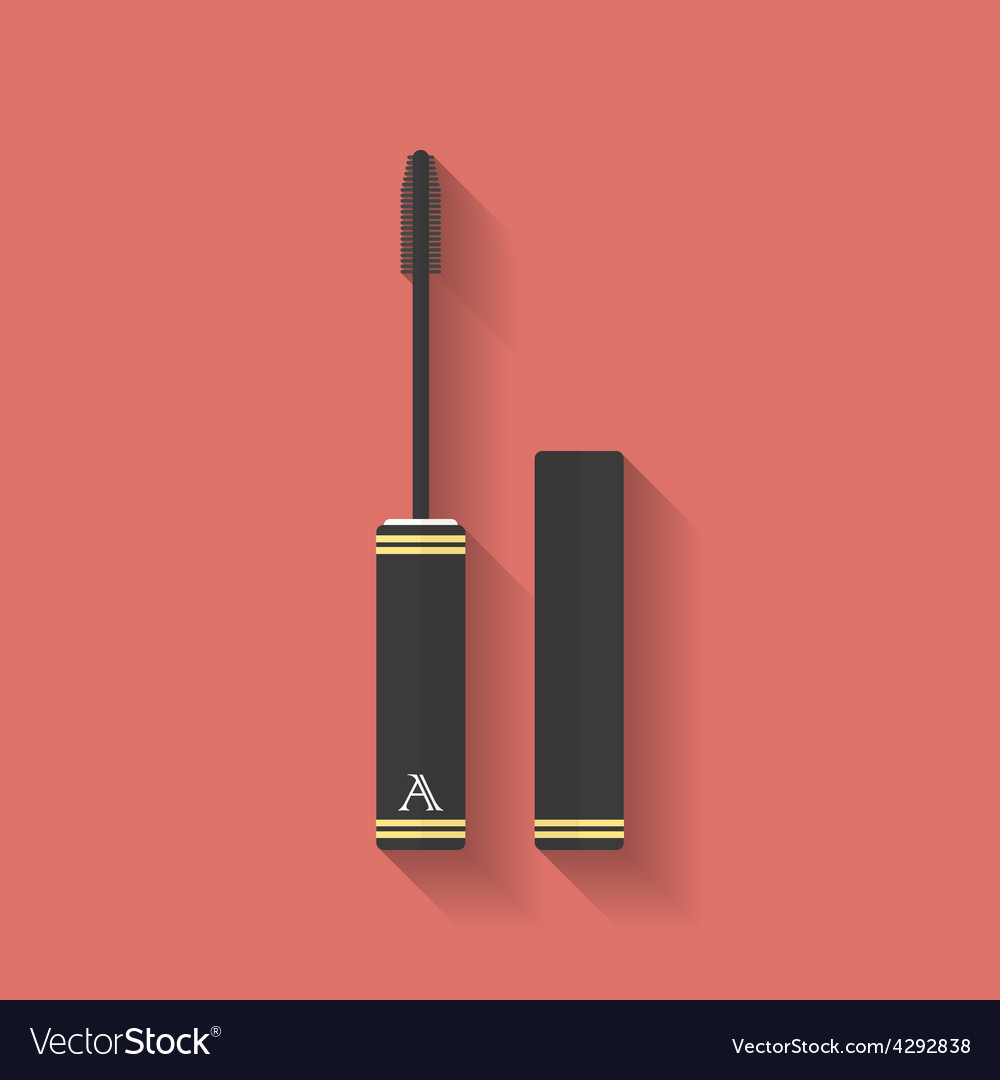 Mascara icon flat style vector | Price: 1 Credit (USD $1)