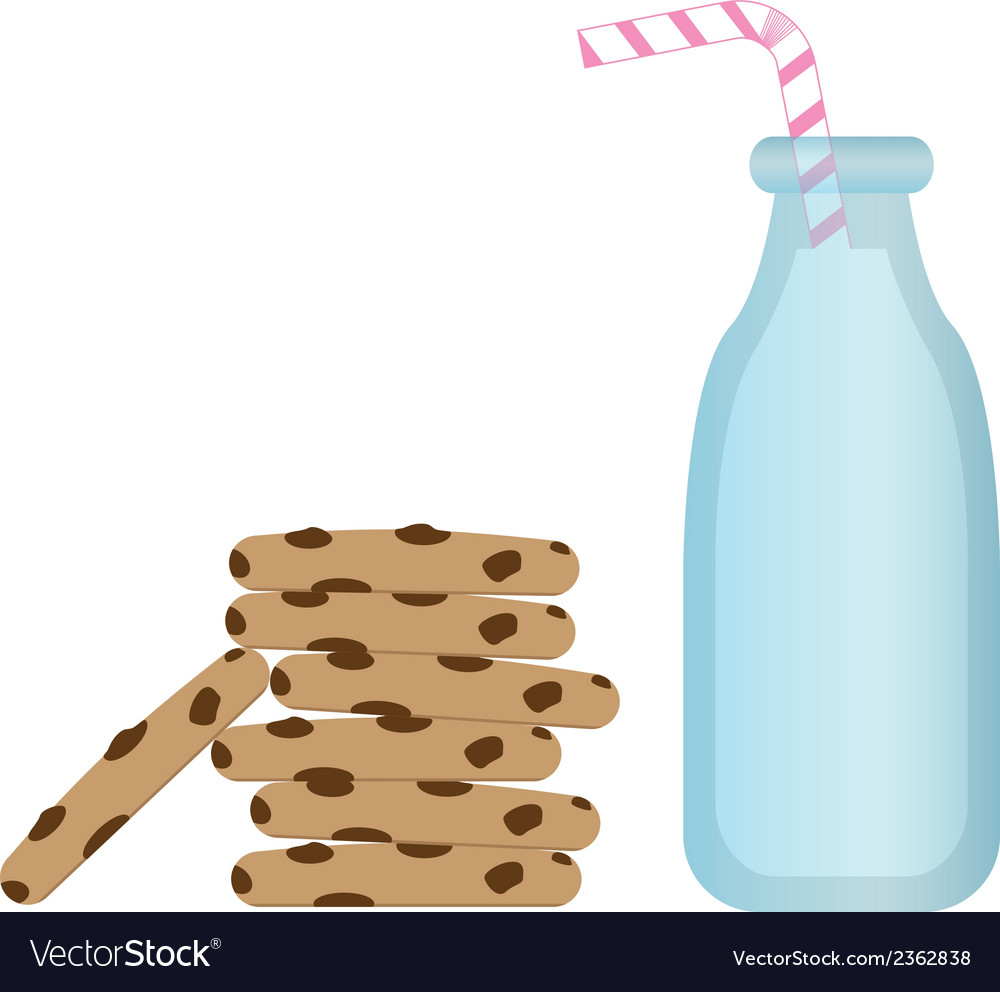 Milk and cookies vector | Price: 1 Credit (USD $1)