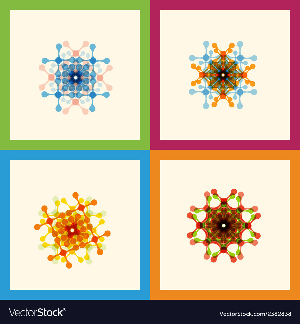 Set color molecule pattern eps vector | Price: 1 Credit (USD $1)