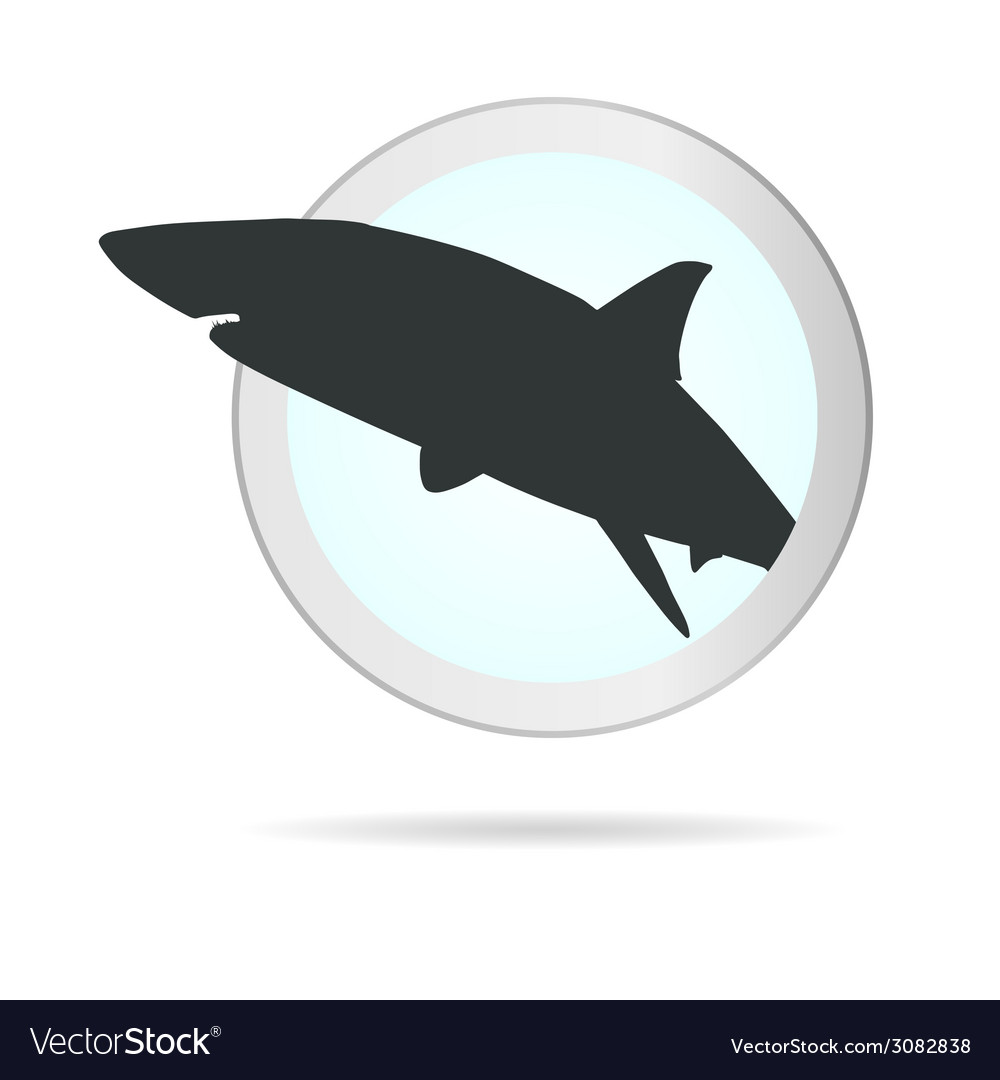 Sign shark in circle vector | Price: 1 Credit (USD $1)