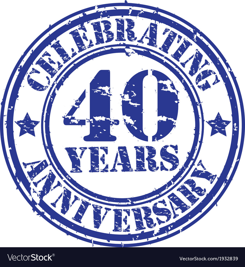 Celebrating 40 years anniversary grunge rubber sta vector | Price: 1 Credit (USD $1)