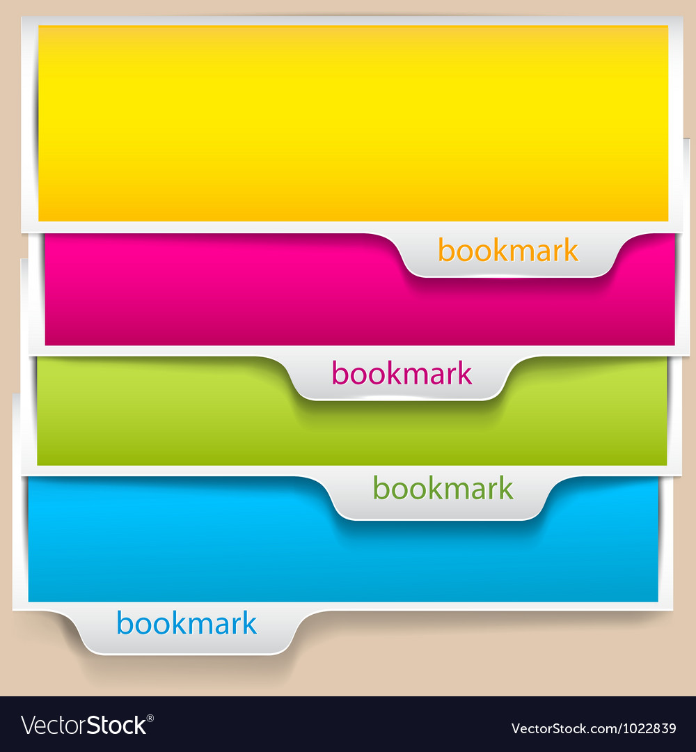Colorful bookmarks and banners with place for text vector | Price: 1 Credit (USD $1)