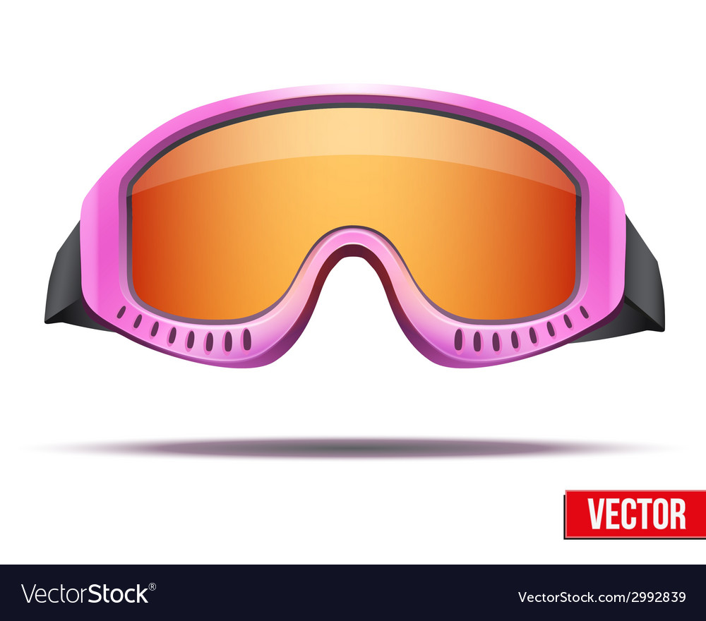 Female pink snowboard ski goggles with colorful vector | Price: 1 Credit (USD $1)