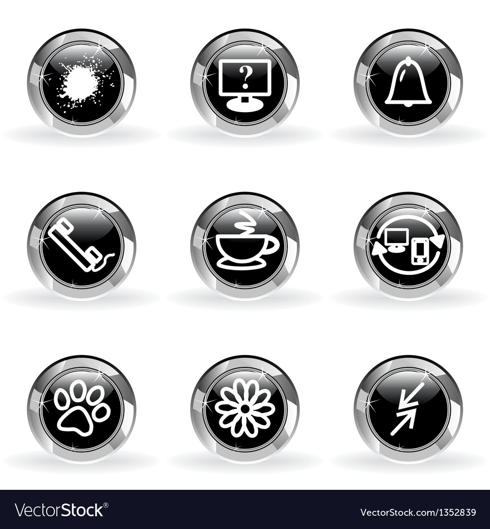 Glossy icon set 26 vector | Price: 1 Credit (USD $1)