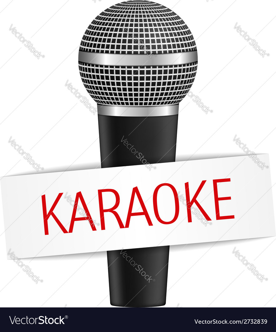 Karaoke banner with microphone eps10 illus vector | Price: 1 Credit (USD $1)