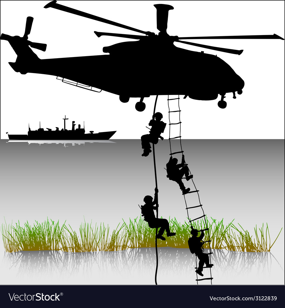 Landing of helicopters vector | Price: 1 Credit (USD $1)