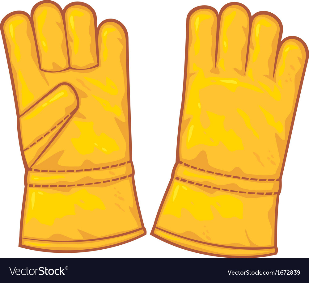 Leather gloves vector | Price: 1 Credit (USD $1)