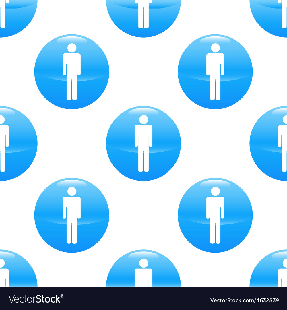 Man sign pattern vector | Price: 1 Credit (USD $1)