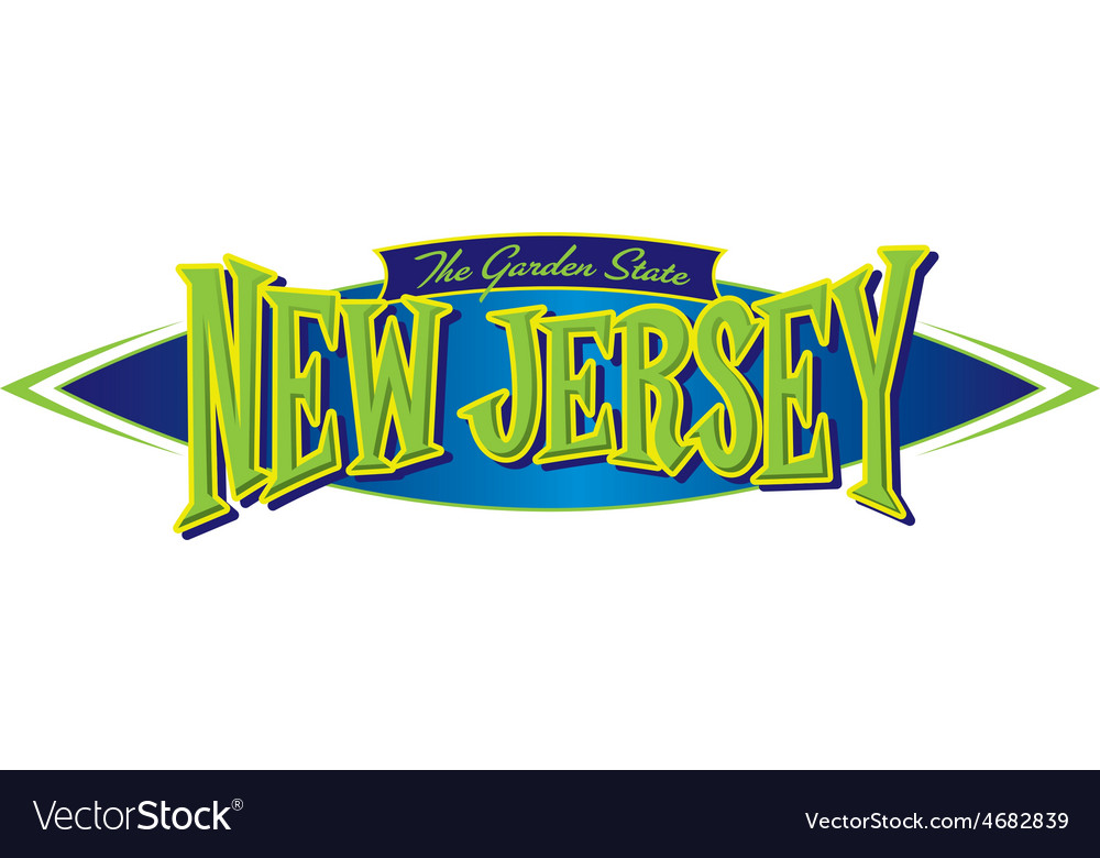 New jersey the garden state vector | Price: 1 Credit (USD $1)