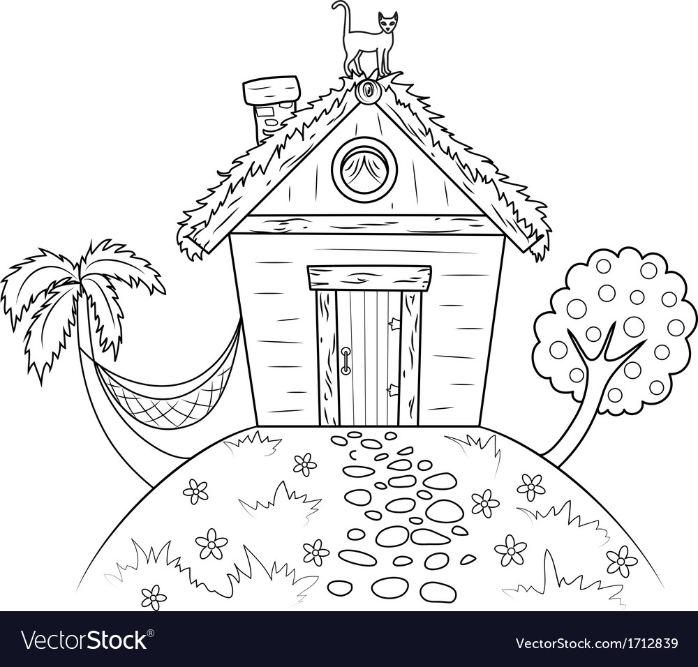 Old hut vector | Price: 1 Credit (USD $1)