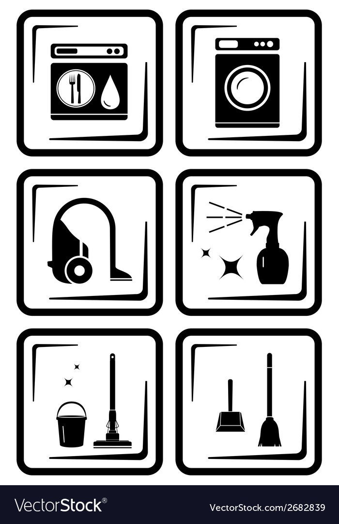 Set six icon for housewife home work vector | Price: 1 Credit (USD $1)